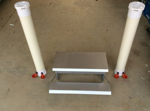 Feeder and Water Tubes for Chickens