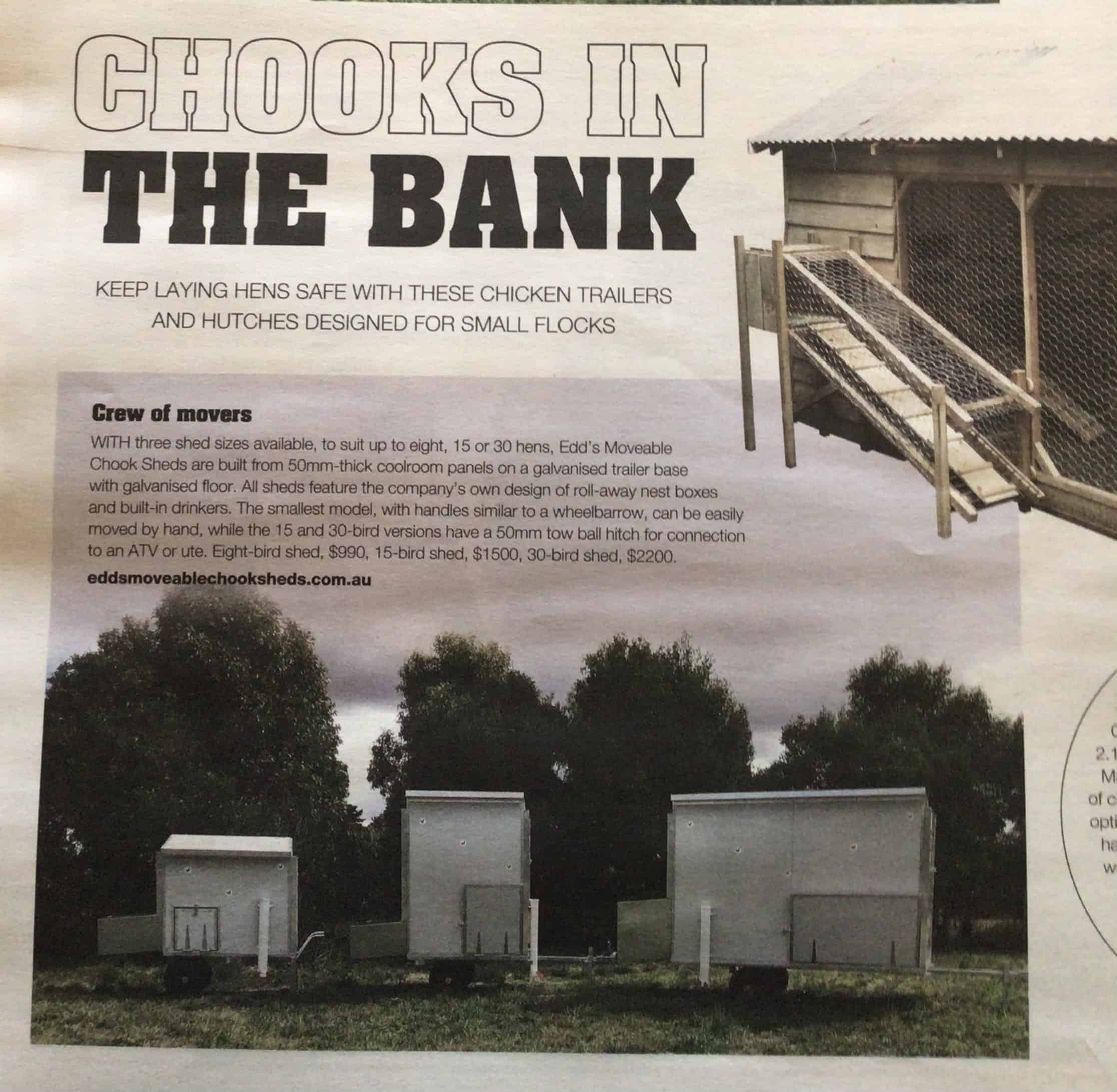 Chicken Shed Write Up Herald & Weekly Times